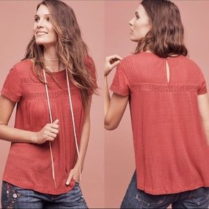 Anthropologie Meadow Rue Galicia Eyelet Top